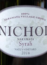 Nichol Vineyard Syrah Nate's Vineyardtext