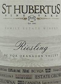 St. Hubertus Vineyards Family Estate Rieslingtext