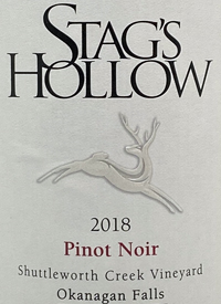 Stag's Hollow Pinot Noir Shuttleworth Creek Vineyard