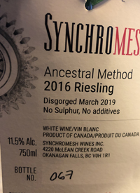 Synchromesh Ancestral Method Rieslingtext