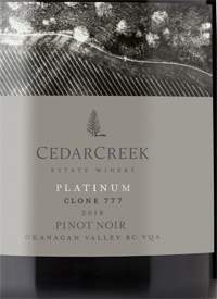 CedarCreek Platinum Clone 777 Pinot Noirtext