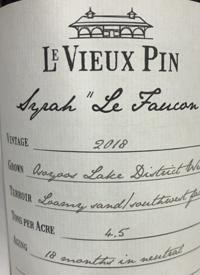 Le Vieux Pin Le Faucon Syrahtext