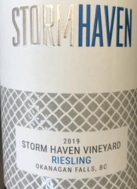 Storm Haven Vineyard Rieslingtext