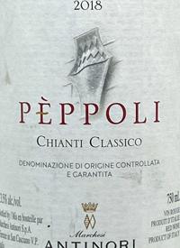 Antinori Pèppoli Chianti Classicotext