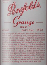 Penfolds Grange Bin 95 Shiraz