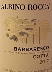 Albino Rocca Barbaresco Cottà Barbarescotext