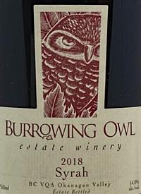 Burrowing Owl Syrahtext