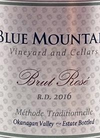 Blue Mountain Brut Rosé R.D. Méthode Traditionelle