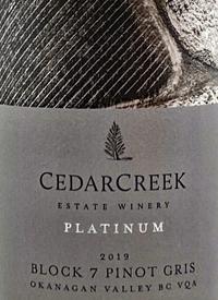 CedarCreek Platinum Block 7 Single Vineyard Pinot Gristext