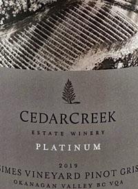 CedarCreek Platinum John Simes Vineyard Pinot Gristext