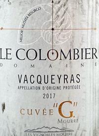 Le Colombier Vacqueyras Cuvee Gtext