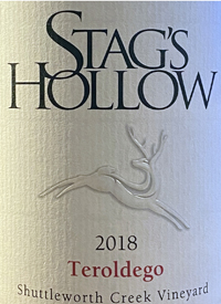 Stag's Hollow Teroldego Shuttleworth Creek Vineyardtext