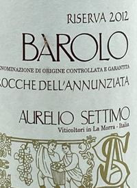 Aurelio Settimo Barolo Riserva Rocche Dell'Annunziatatext