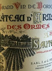 Chateau d'Armajan des Ormes Sauternestext