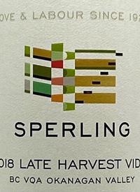 Sperling Late Harvest Vidaltext
