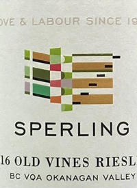Sperling Vineyards Old Vines Rieslingtext