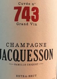 Champagne Jacquesson Cuvée n° 743 Extra-Bruttext