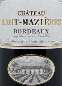 Chateau Haut-Mazierestext