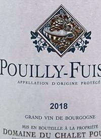 Domaine du Chalet Pouilly Pouilly-Fuissétext