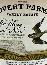 Covert Farms Sparkling Pinot Noir Methode Ancestraletext