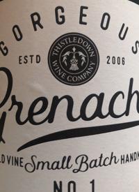 Thistledown Wine Company Gorgeous Grenache