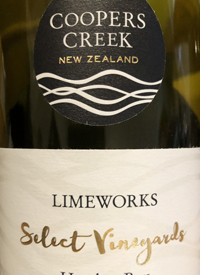 Cooper Creek Select Vineyards Limeworks Chardonnaytext