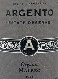 Argento Estate Reserve Organic Malbectext