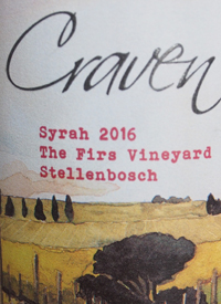 Craven Wines Syrah Firs Vineyardtext