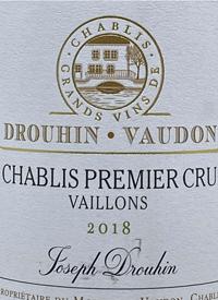 Drouhin Vaudon Chablis Premier Cru Vaillonstext