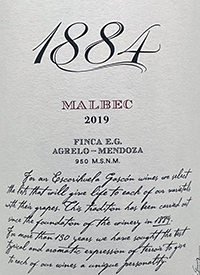 1884 Malbec Finca E.G.text