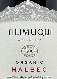 Tilimuqui Organic Malbectext