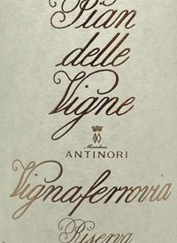 Antinori Pian delle Vigne Brunello di Montalcino Riserva Vignaferroviatext