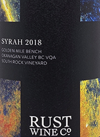 Rust Wine Co. South Rock Vineyard Syrahtext