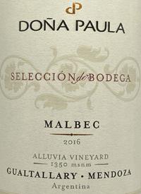 Doña Paula Selección de Bodega Malbec Alluvia Vineyardtext