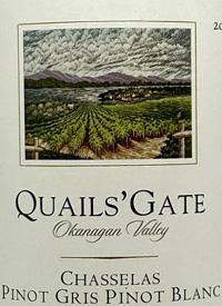 Quails' Gate Chasselas - Pinot Blanc - Pinot Gristext