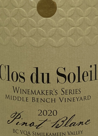 Clos du Soleil Grower's Series Pinot Blanc Middle Bench Vineyardtext