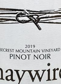 Haywire Pinot Noir Secrest Mountain Vineyardtext