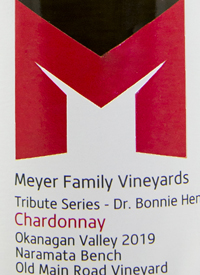 Meyer Family Vineyards Chardonnay Tribute Series - Dr. Bonnie Henry Old Main Road Vineyardtext