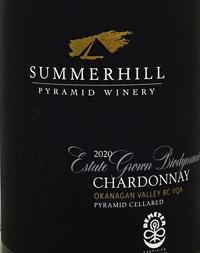 Summerhill Pyramid Winery Estate Grown Chardonnay Demeter Certified Biodynamictext