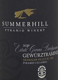 Summerhill Pyramid Winery Estate Grown Gewürztraminer Demeter Certified Biodynamictext