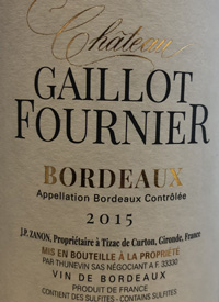 Château Gaillot Fournier Bordeauxtext