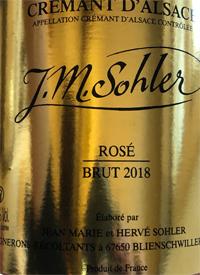 J. M. Sohler Crémant d'Alsace Brut Rosétext
