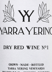 Yarra Yering Dry Red Wine No. 1text