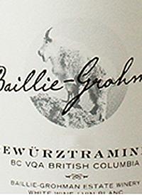 Baillie-Grohman Gewurztraminertext