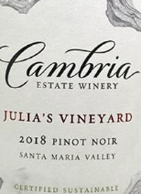 Cambria Pinot Noir Julia's Vineyardtext