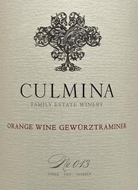 Culmina Family Estate Orange Wine Gewurztraminer No. 013text