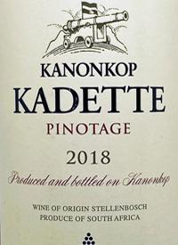Kanonkop Kadette Pinotagetext