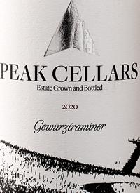 Peak Cellars Gewürztraminertext