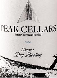 Peak Cellars Terraces Dry Rieslingtext