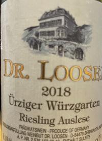 Dr. Loosen Ürziger Würzgarten Riesling Auslesetext